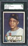 1952 Topps #261 Willie Mays SGC 84 NM 7