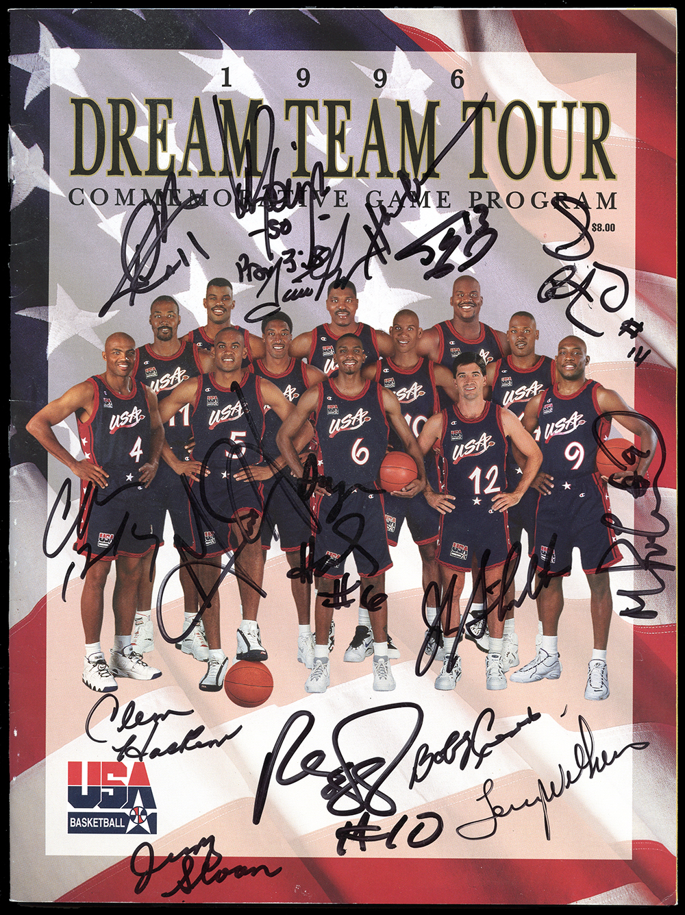 Lot Detail - 1996 Olympic Dream Team Tour Program with ...