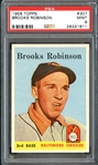 1958 Topps #307 Brooks Robinson PSA 9 MINT