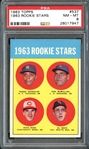 1963 Topps #537 Pete Rose PSA 8 NM/MT