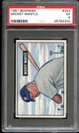 1951 Bowman #253 Mickey Mantle PSA 5 EX