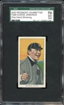 1910 Piedmont Cigarettes T206 Hughie Jennings One Hand Showing SGC 70 EX+ 5.5