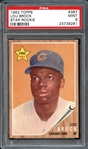 1962 Topps #387 Lou Brock Star Rookie PSA 9 MINT