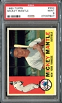 1960 Topps #350 Mickey Mantle PSA 9 MINT