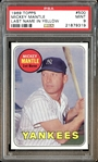 1969 Topps #500 Mickey Mantle Last Name in Yellow PSA 9 MINT