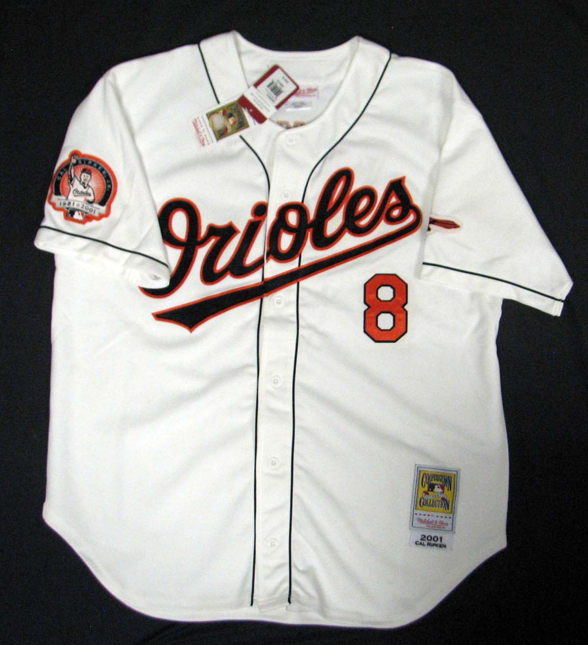 3767e1ad0 ... Cal Ripken Jr. Signed Mitchell and Ness Orioles Jersey Steiner COA ...