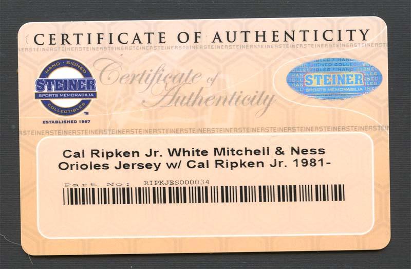 5e8d58889 Lot Detail - Cal Ripken Jr. Signed Mitchell and Ness Orioles Jersey ...
