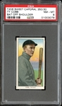 1909-11 T206 Sweet Caporal 350/30 Ty Cobb Bat Off Shoulder PSA 8 NM/MT