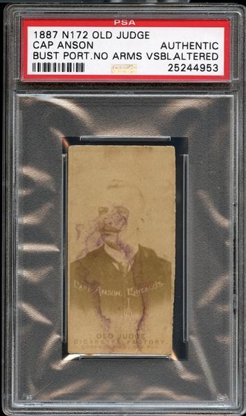 Lot Detail 1887 N172 Old Judge Cap Anson Bust Portrait No Arms Psa