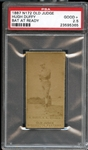 1887 N172 Old Judge Hugh Duffy Bat Ready PSA 2.5 GOOD+