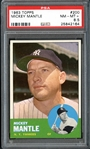 1963 Topps #200 Mickey Mantle PSA 8.5 NM/MT+