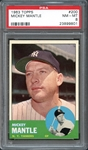 1963 Topps #200 Mickey Mantle PSA 8 NM/MT