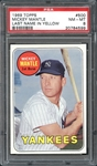 1969 Topps #500 Mickey Mantle Last Name in Yellow PSA 8 NM/MT