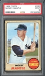 1968 Topps #280 Mickey Mantle PSA 9 MINT