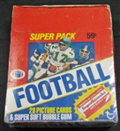 1980 Topps Super Football Unopened Cello Box BBCE