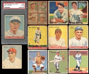 1933-35 Goudey, World Wide Gum and Diamond Stars Group of (11)