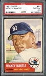 1953 Topps #82 Mickey Mantle PSA 2.5 GOOD+