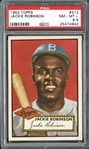 1952 Topps #312 Jackie Robinson PSA 8.5 NM/MT+