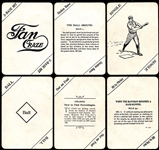 1904 Fan Craze Group of (37) Game Cards Plus (2) Tobacco Bags
