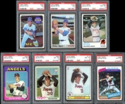 1969 - 80 Nolan Ryan Group of (7) Graded Cards