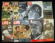 1950s-60s Life Magazine Group of (8) Featuring 1962 Issue with Mantle and Maris Cards