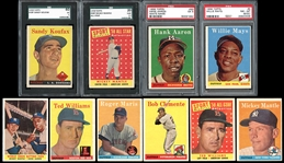 1958 Topps Baseball Complete Set with PSA/SGC Graded