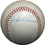 Spectacular Jackie Robinson Single-Signed ONL (Giles) Ball