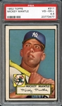 1952 Topps #311 Mickey Mantle PSA 4.5 VG/EX+