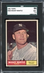 1961 Topps #300 Mickey Mantle SGC 86 NM+ 7.5