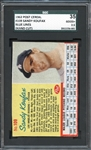 1962 Post Cereal #109 Sandy Koufax Blue Lines SGC 35 GOOD+ 2.5