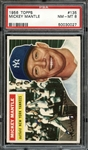 1956 Topps #135 Mickey Mantle PSA 8 NM/MT