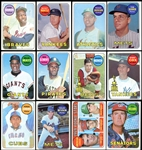 1969 Topps Baseball Complete Set with Deckle Edge Insert Set
