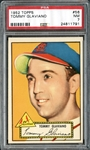 1952 Topps #56 Tommy Glaviano PSA 7 NM