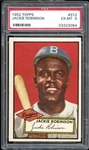 1952 Topps #312 Jackie Robinson PSA 6 EX/MT