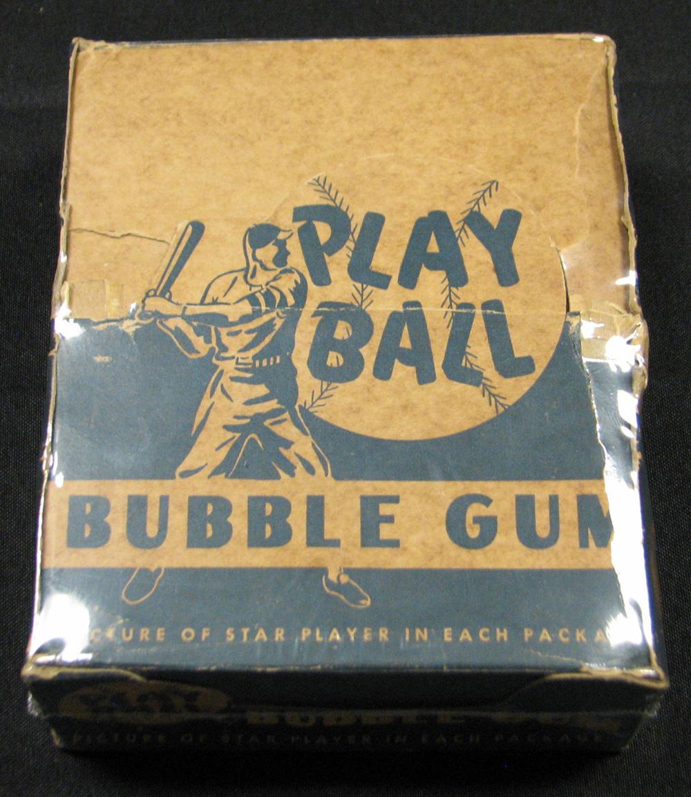 Incredible 1948 Bowman Baseball Nearly Full Unopened Wax Box (19/24) Packs BBCE