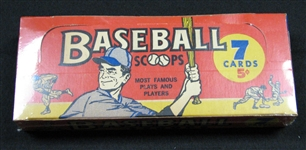 1961 Nu-Card Scoops Near Full Unopened Wax Box BBCE