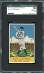 Exceptional 1933 DeLong #7 Lou Gehrig SGC 88 NM/MT 8 -Possibly The Finest Known Copy