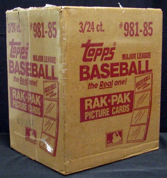 Lot Detail 1985 Topps Baseball Unopened Rack Pack Case