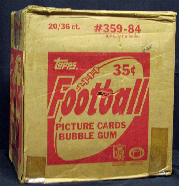 1984 Topps Football Unopened Wax Box Case