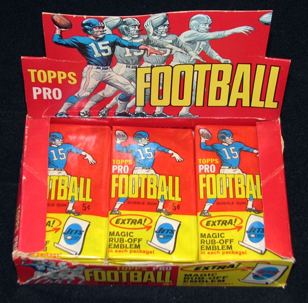 Spectacular 1965 Topps Football Full Unopened Wax Box BBCE