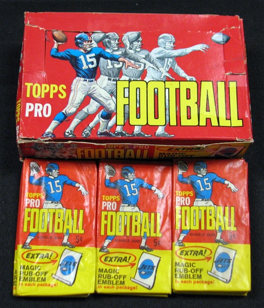 1965 Topps Football Nearly Full Unopened Wax Box (21/24) BBCE