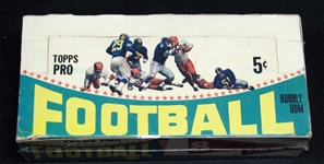 1964 Topps Football Nearly Full Unopened Wax Box Eight Cards Per Pack (19/24) (BBCE)