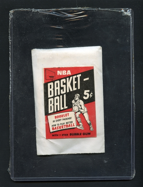 Extremely Scarce 1968 Topps Test Basketball Unopened Pack (Three Cards) BBCE