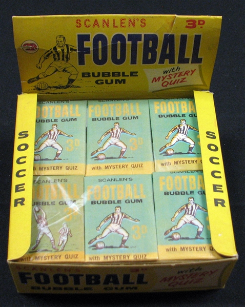 1965 Scanlen's Football 6-Pack Display Box Salesman's Sample