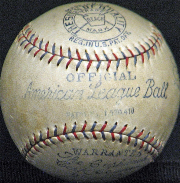 Exceptionally High-End Babe Ruth Single-Signed OAL (Barnard) Ball with 1927 Notation
