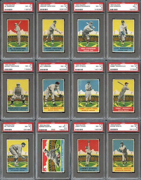Exceptionally High-End 1933 DeLong Complete Set All PSA/SGC Graded