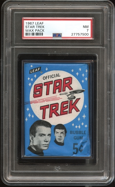 1967 Leaf Star Trek Unopened Wax Pack PSA 7 NM Only Pack Ever Graded by PSA