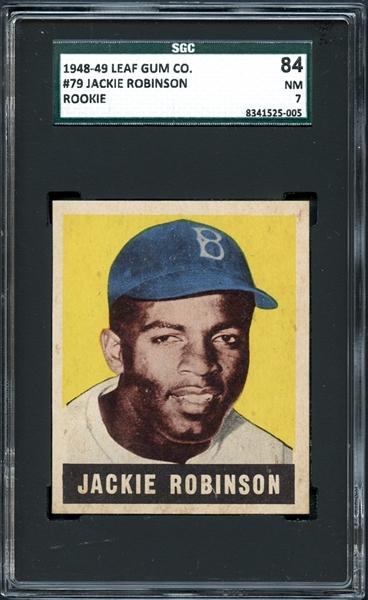 Leaf Jackie Robinson SGC 84