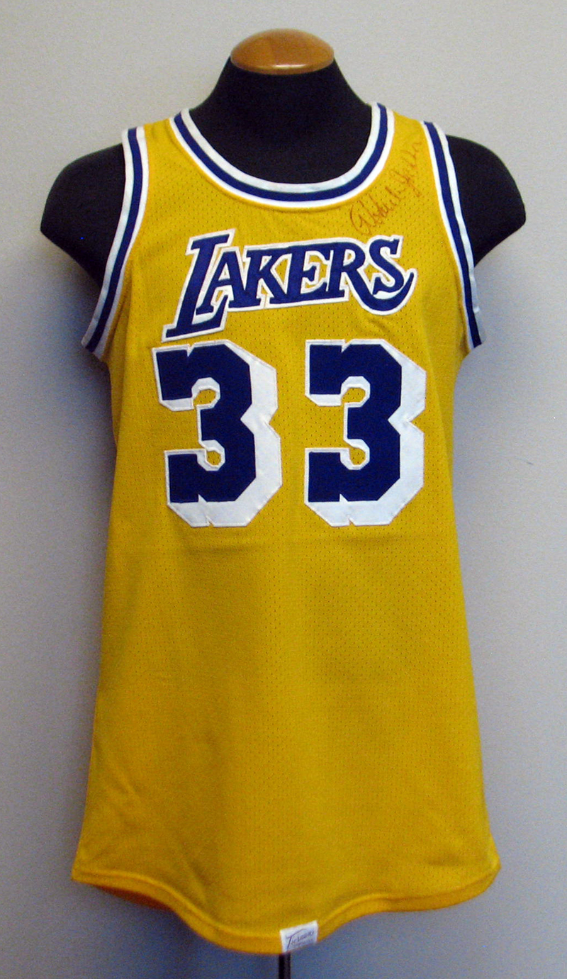 1980s Kareem Abdul-Jabbar Los Angeles Lakers Game-Used and Twice-Signed  Jersey ... bacfc5b21