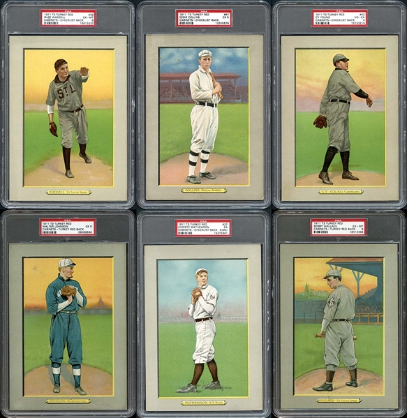 1911 T3 Turkey Red Near Complete Set #5 On PSA Set Registry